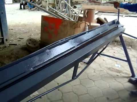 roladoras.plegadoras - Plegadora propia para laminas 1mm. Optima para fabricacion de canales pluviales de 2400 mm (8 pies)