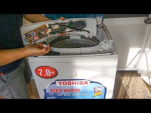 Xử lí gãy ốc hãm lồng giặt, vệ sinh máy giặt ToShiBa cửa trên - Thời lượng: 36:16.