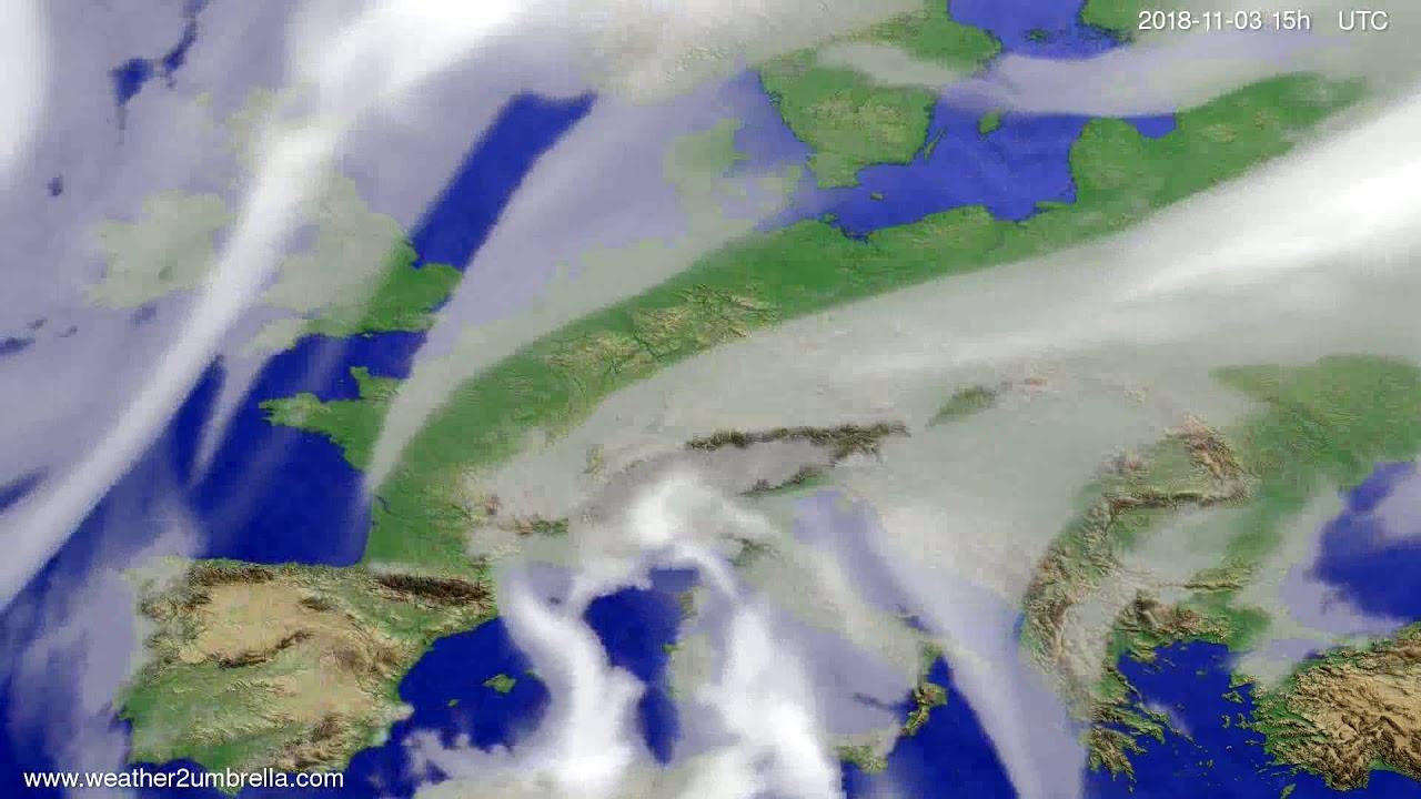 Cloud forecast Europe 2018-11-01