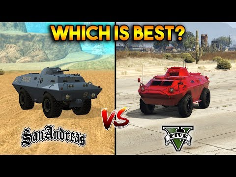 GTA 5 APC VS GTA SAN ANDREAS SWAT VAN : WHICH IS BEST?