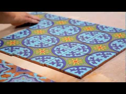 Making Cuerda Seca Decorative Tiles (1:04)