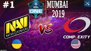 ЛАСТ ШАНС для НАВИ! | Na'Vi vs coL #1 (BO3) | ESL One Mumbai 2019