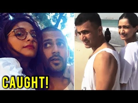 Sonam Kapoor Anand Ahuja CAUGHT On A Beach Togethe