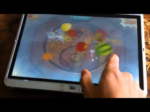Fruit Ninja HD on Elitebook 2760p powered by Windows 8