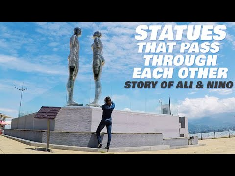 Ali and Nino Statue of Love - Rotates 360 Through Each Other