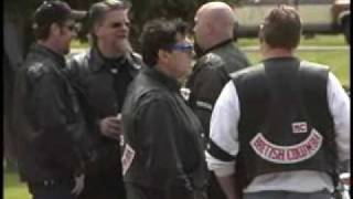 Burnaby (BC) Canada  city images : Hells Angels Funeral Ocean View Cemetery Burnaby BC Canada