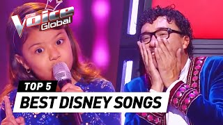 Video The Voice Kids | BEST DISNEY SONGS in The Blind Auditions [PART 2] MP3, 3GP, MP4, WEBM, AVI, FLV Mei 2019