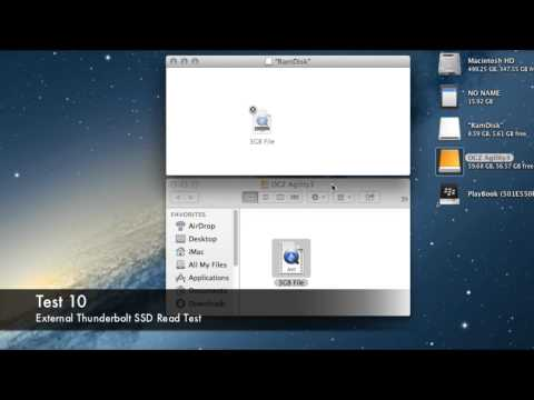 thunderbolt - This is a speed test comparison, comparing the time taken to copy a 3GB file to / from a drive connected by USB 2.0, USB 3.0, Thunderbolt and SATA. I also ru...