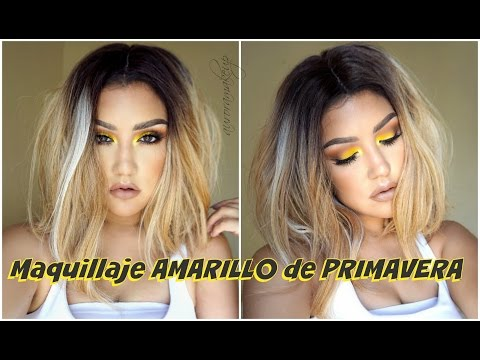 Maquillaje De PRIMAVERA En AMARILLO / YELLOW Smokey Eye Makeup Tutorial| Auroramakeup