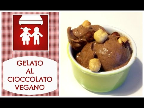 gelato al cioccolato vegano