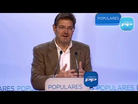 """Catalá: """"La prisión permanente revisable es un compromiso firme de este Gobierno"""""""