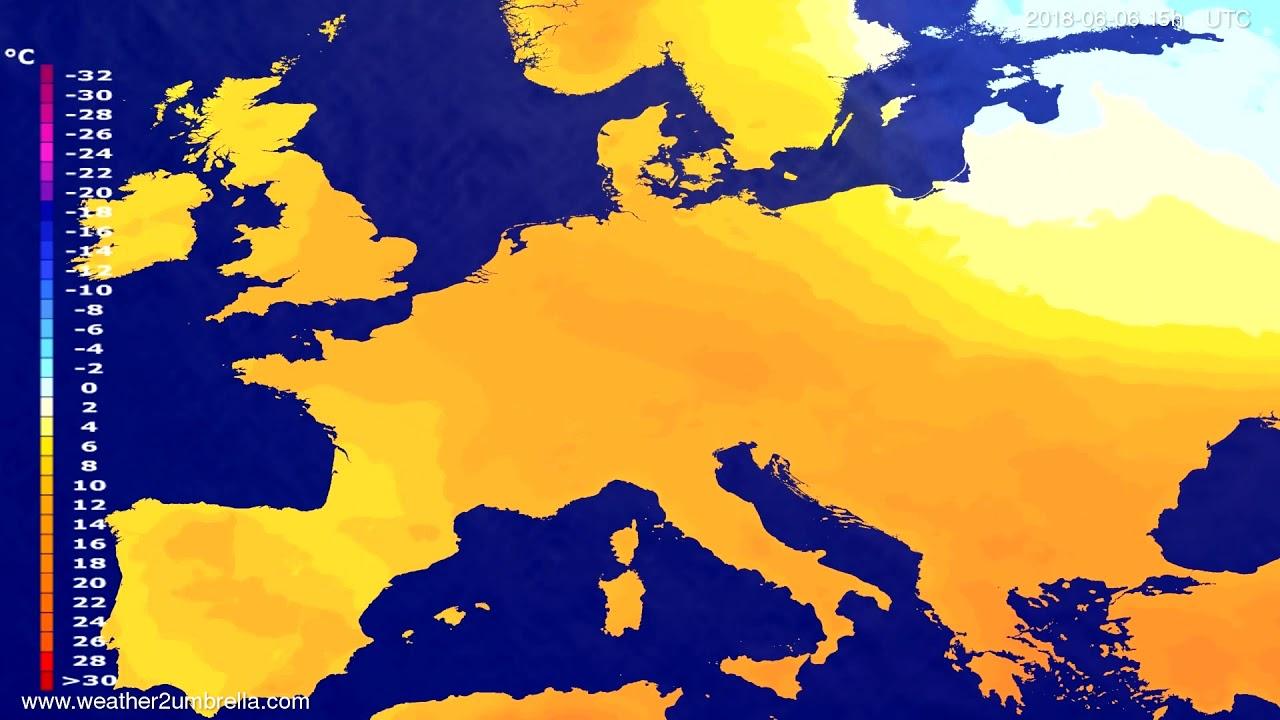 Temperature forecast Europe 2018-06-03