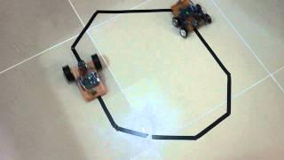 Arduino Uno R3,Adafruit Motor Shield ve Pololu QTR-8RC line sensör kullanarak yapılan Çizgi Takip Eden Robot.Daha fazlası için http://www.yapalim.net/2015/03/03/arduino-%C3%A7izgi-izleyen-robot-yap%C4%B1m%C4%B1/