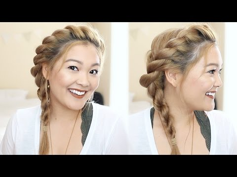TWISTED ROPE BRAID HAIR TUTORIAL | JaaackJack