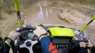 9. Getting A Bit Wet | Can Am Maverick XMR Trail Riding