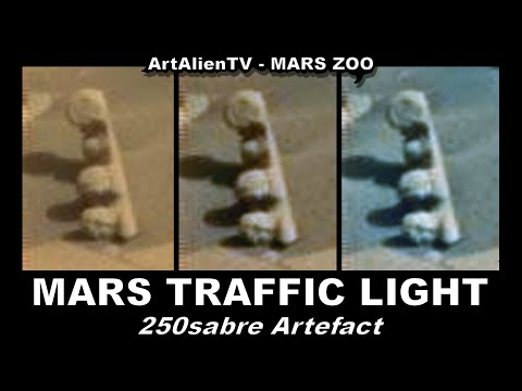 MARS TRAFFIC LIGHT? AMAZING ALIEN OBJECT / 250sabre ARTEFACT. ArtAlienTV 1080p Part 1