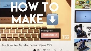 Precise tutorial to make a logo, and add it, in less than 5 minutes!Gadget Deals: http://amzn.to/2f8ysW0Buy Gold MacBook here: http://amzn.to/1ITscv9Buy Space Gray MacBook here: http://amzn.to/1F5YjmGBuy MacBook Air here: http://amzn.to/1K9iAewBuy MacBook Pro here: http://amzn.to/1c9qbOHiPhone 7 Black: http://amzn.to/2dqCThAiPhone 7 Plus Black: http://amzn.to/2e4zWkFiPhone 7 Jet Black: http://amzn.to/2dqATpxiPhone 7 Gold: http://amzn.to/2ea6U4wiPhone 7 Silver: http://amzn.to/2ewE4s0iPhone 7 Rose: http://amzn.to/2dDfQPkiPhone 6S: http://amzn.to/2e4BH1kFOLLOW ME IN THESE PLACES FOR UPDATES:Support Me on Patreon: https://www.patreon.com/TheGadgetGodFacebook: https://www.facebook.com/candyvinthegadgetgodTwitter: https://twitter.com/TheGadgetGodTwitch: https://www.twitch.tv/thegadgetgodInstagram: https://www.instagram.com/thisisvinchenzoDirect Link to Text Creator:http://www.picturetopeople.org/text_generator/others/transparent/transparent-text-generator.htmlAnswer to the question: How do you get the subscribe overlay on your YouTube video?Previous Title: HOW TO: MAKE A SUBSCRIBE BUTTON APPEAR ON YOUR YOUTUBE VIDEOS!! Watermark TutorialADD YOUR BRANDING WATERMARK:1. Sign in to your YouTube account.2. Go to Creator Studio by clicking your account icon - Creator Studio.3. In the left menu, select Channel - Branding.4. Click Add a watermark.5. Follow the on-screen instructions to add a channel branding element that will appear in all your uploaded videos across devices.-YouTube recommends that you use a transparent background rather than a solid one and include just one color in the image. This will help the image be less distracting, especially on small screens.-You can use a branding watermark to embed your channel logo across all videos on your channel. When you add a watermark, viewers can directly subscribe to your channel if they hover over the watermark.