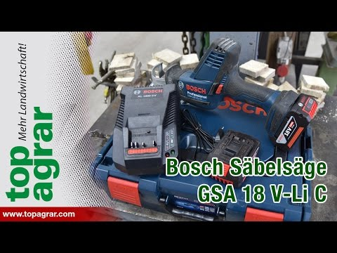 Test: Akku-Säbelsäge Bosch Professional GSA 18 V-Li C
