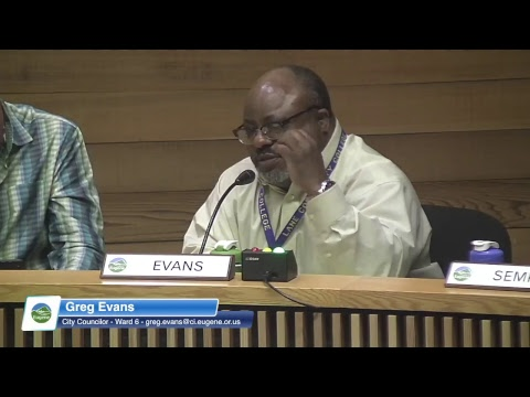 Eugene City Council Meeting: April 23, 2018