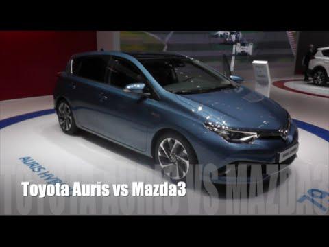 Toyota auris vs mazda 3 фото