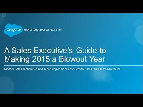 A Sales Executive's Guide to Making 2015 a Blowout Year