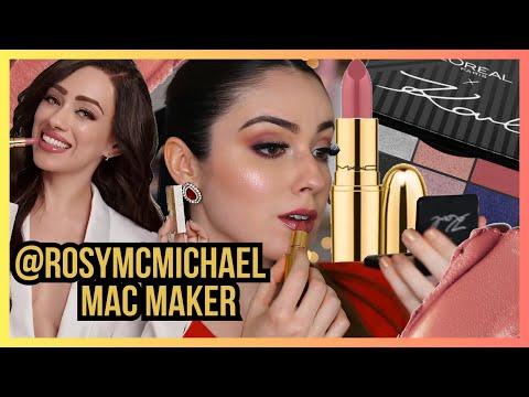 PROBANDO EL LABIAL DE ROSY MCMICHAEL CON MAC | COLECCION DE KARL LAGER… видео