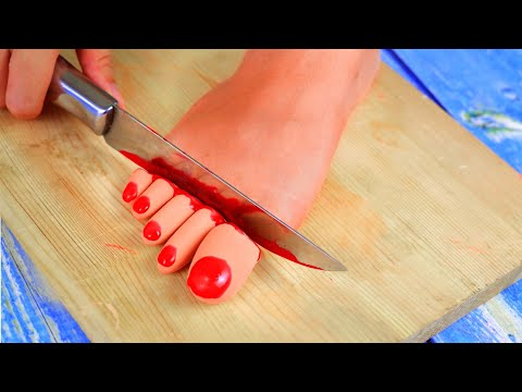 Stop Motion Cooking  Make insect sandwich from supplies toy toe  ASMR Funny Video