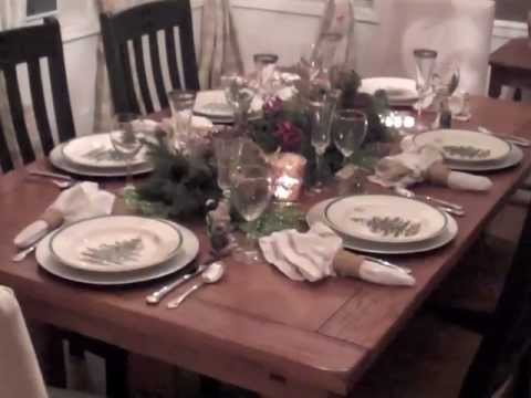 come decorare una tavola in perfetto stile natalizio
