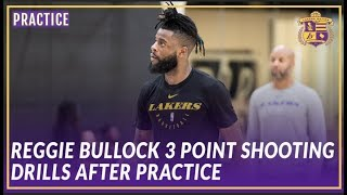 Lakers Practice: Reggie Bullock Getting Some 3's Up After Practice by Lakers Nation
