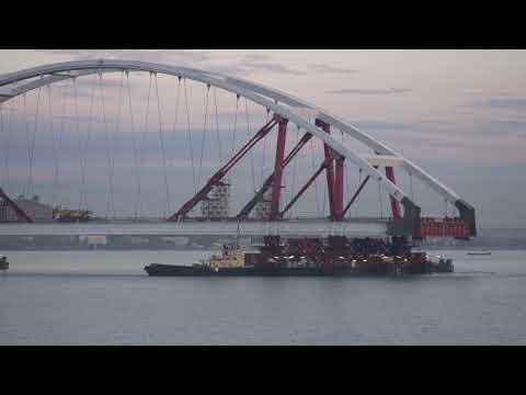 Видео движения плавсистемы КРЫМ 23.10.17