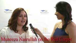 Muneeza Nasrullah on the Red Carpet