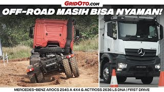 Download Video Nyobain Truk Canggih Mercedes-Benz Arocs 2545 A 4x4 & Actross 2636 LS DNA 6x2 | First Drive MP3 3GP MP4