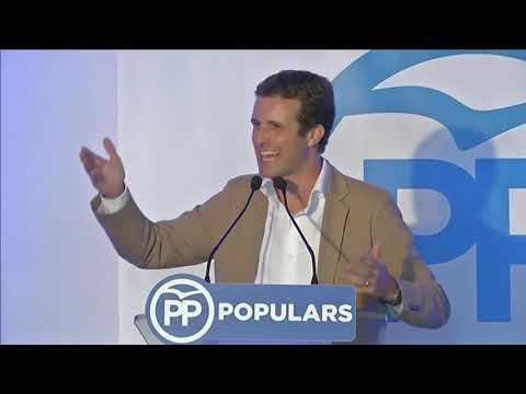 El presidente del PP, Pablo Casado, se reúne con empresarios y afiliados en Menorca