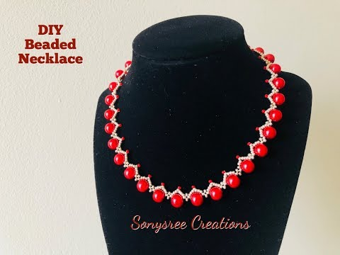 How to make this simple & Elegant Beaded Necklace 💞
