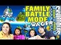 4 Player Swap Force Battle Mode: Family Food Wager + Bouncer Renaming Winners (Rumble + Ring Out)