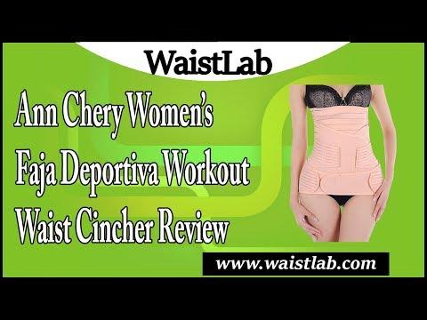 Ann Chery Women's Faja Deportiva Workout Waist Cincher Review