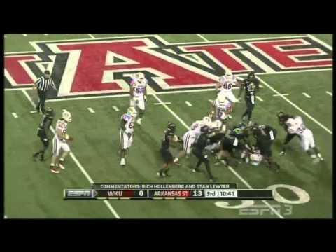 Antonio Andrews vs Arkansas State 2012 video.