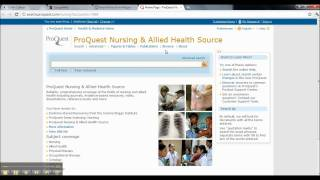 How To Access Training Videos On Nursing&Allied Health Source (Proquest)