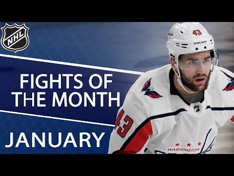 Video: Washington Capitals' Tom Wilson tops NHL fights in January | NHL | NBC Sports