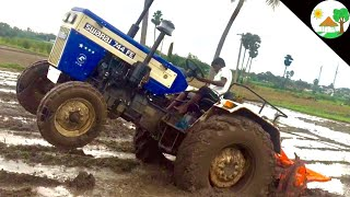 TRACTOR STUCK in Mud and Pulled Swaraj 744 FE Tractor/ Swaraj Tractor stuck /  tractor vs tractor