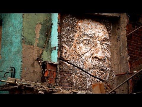 VÍDEO:  Vhils Explosive Street Art