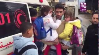 اصابات في حادث سير بين حافلة أطفال ومركبة خاصة جنوب طولكرم