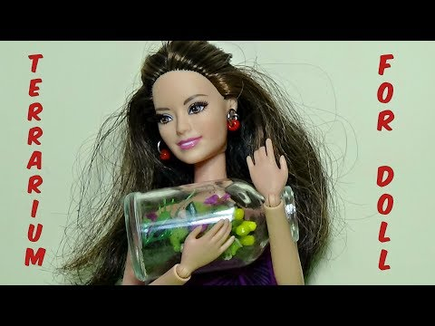 Doll terrarium diy - How to make a terrarium for Barbie - Diy For Dolls_Terrárium, Vivárium
