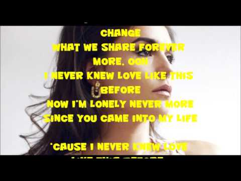 Jessie Ware  - I Never Knew Love Like This Before lyrics
