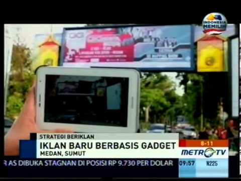 augmented reality - GG Mild GiGteria Metro TV Augmented Reality Billboard Medan.