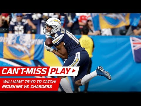 Video: Philip Rivers' 75-Yd TD Bomb to Tyrell Williams vs. Washington! | Can't-Miss Play | NFL Wk 14