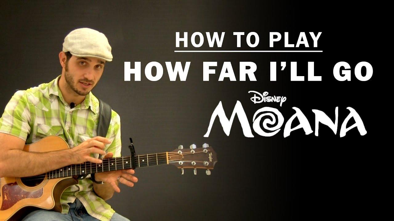 How Far I'll Go (Disney Moana) | How To Play | Beginner Guitar Lesson