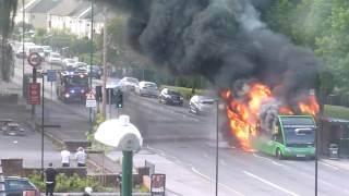 Nottingham United Kingdom  City new picture : Bus Caught Fire In Clifton Nottingham Uk