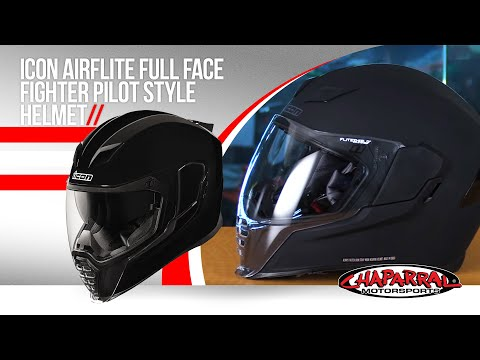 Icon Airflite Full Face Fighter Pilot Style Helmet Review New for 2018 Chap Moto