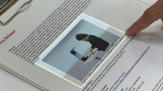 Touchscreen interface for seamless data transfer between the real and virtual worlds #DigInfo - YouTube